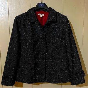 COLDWATER CREEK Black Tweedlike Jacket 18W